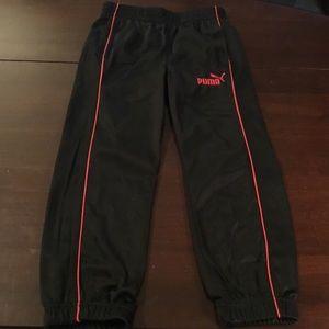 Puma Black/Red Sweatpants.  Size 5